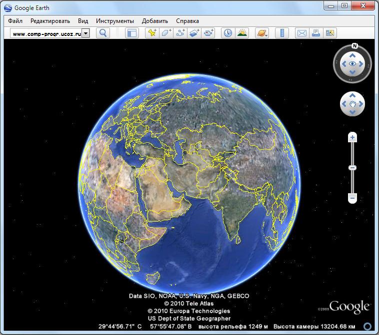 Как создать гугл планета земля